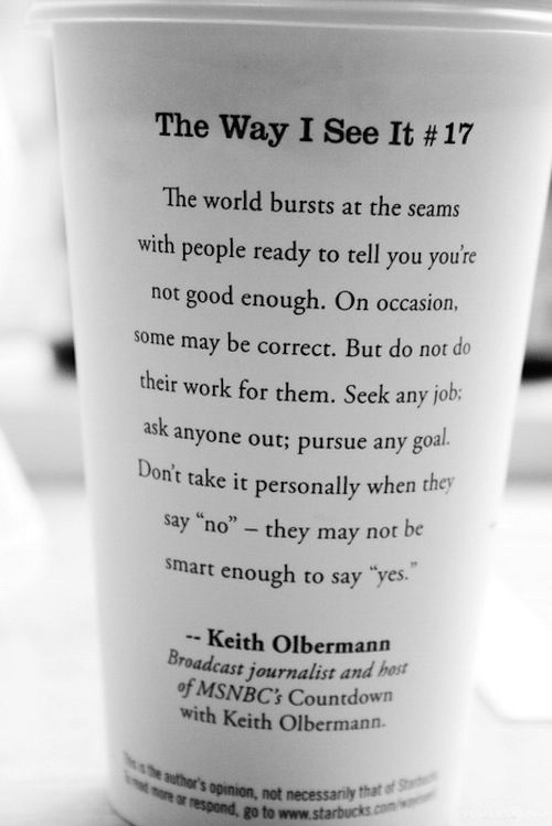 remember the day i got this same 'the way i see it' from starbucks. :)