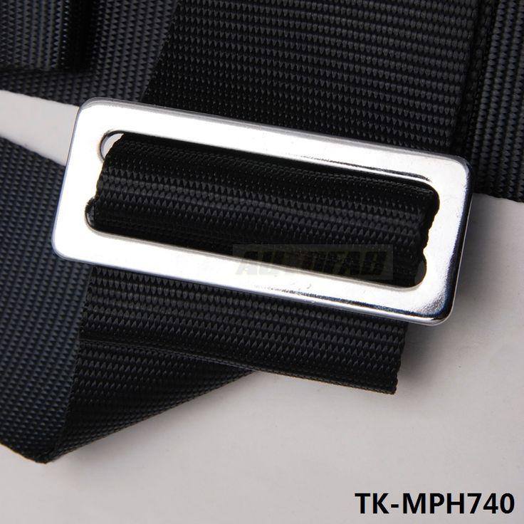"Black/Green - Universal 2"" STRAP 4 POINT QUICK RELEASE RACING SEAT BELT HARNESS SPORT SET (Default color Black) TK-MPH740"