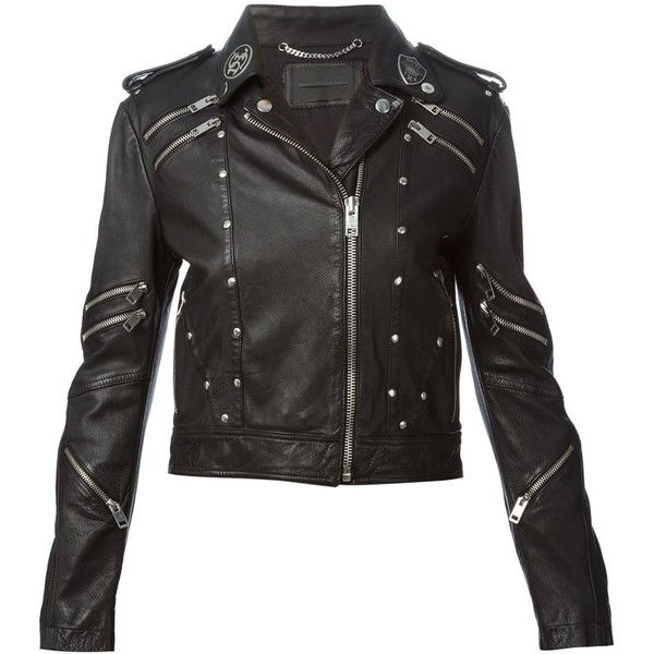 Diesel L-Tahira-a Jacket ($849) ❤ liked on Polyvore featuring outerwear, jackets, black and diesel jacket