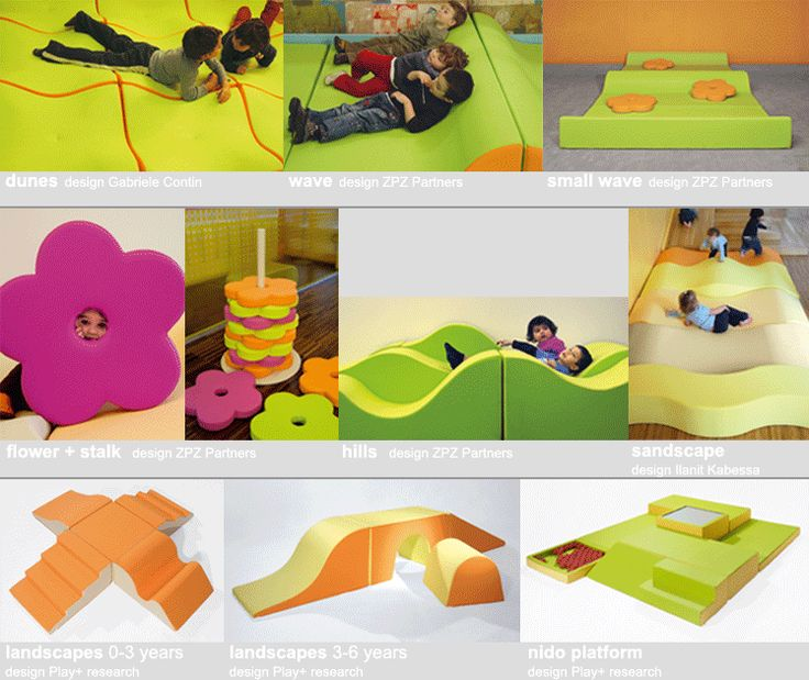 PLAY+ furnitures for children - 3d landscapes. Reggio furniture/play objects transforming spaces.