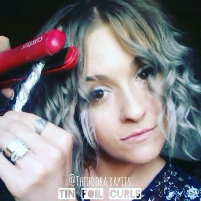 •Tin Foil Curls•  No curling iron needed. As thick or thin as you plz. Use heat protection as you would with any hot tool. Make a few rods to interchange so they can cool. Get creative with a variety of sizes and have fun! Less heat needed. #hair #tinfoilcurls
