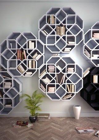 Bookcase designed by Younes Duret Design
