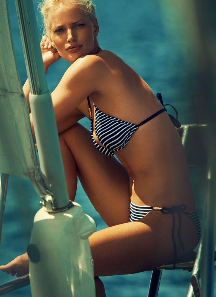 Beautiful Heidi Klein blue/white bikini. www.stylisbeachwear.com (available soon!)