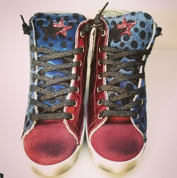 #2star sneakers made with cavallino #collection #love #fashion #style #shoes #glamour #woman #winter #red #blue #pois #instagood #instaday