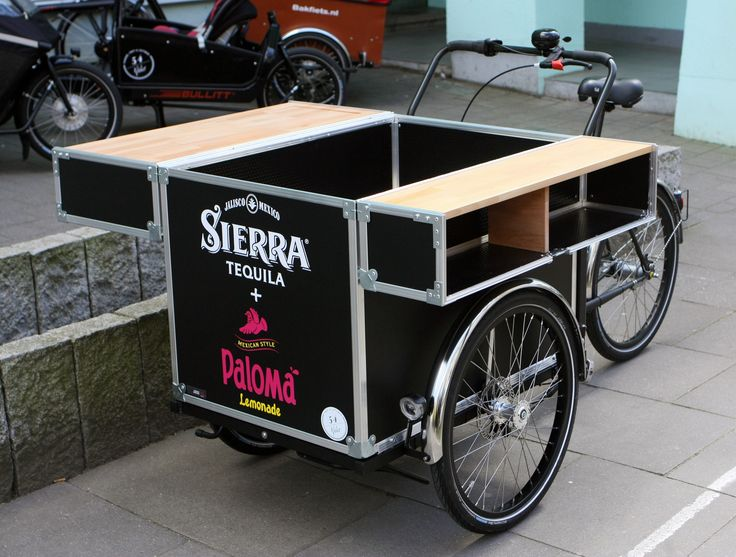 Cocktail-Trike auf dem Rolling Chassis von @christianiabike - #Lastenrad #cargobike #vendingbike