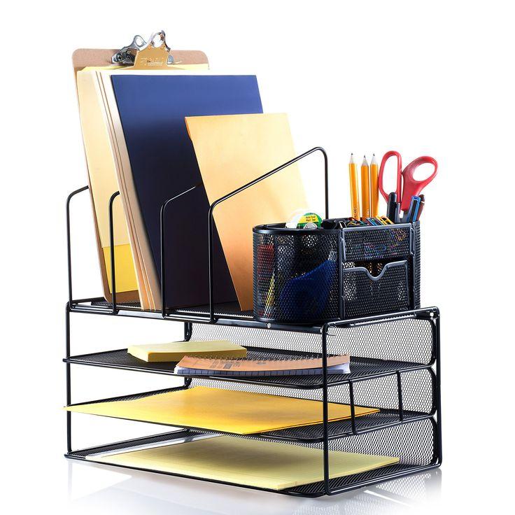 "Saganizer desk organizer set (16"") adjustable desktop organizer, comes with extra supply organizer caddy"