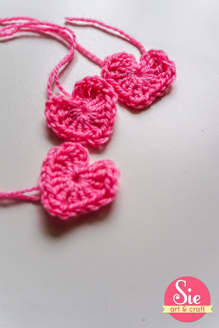corazones en crochet ❤