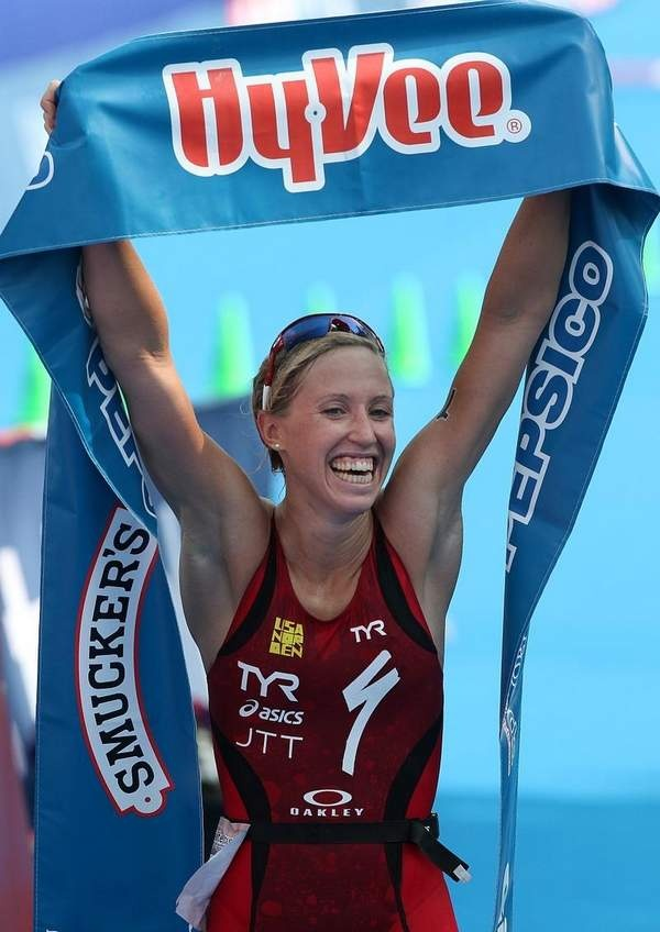 Congratulations to Lisa Norden on winning Hy Vee Triathlon.