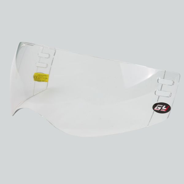 Wave vorm PC Materiaal clear ijshockey vizier buiten anti-kras en binnenkant anti-fog met CE voor bescherming gezicht
