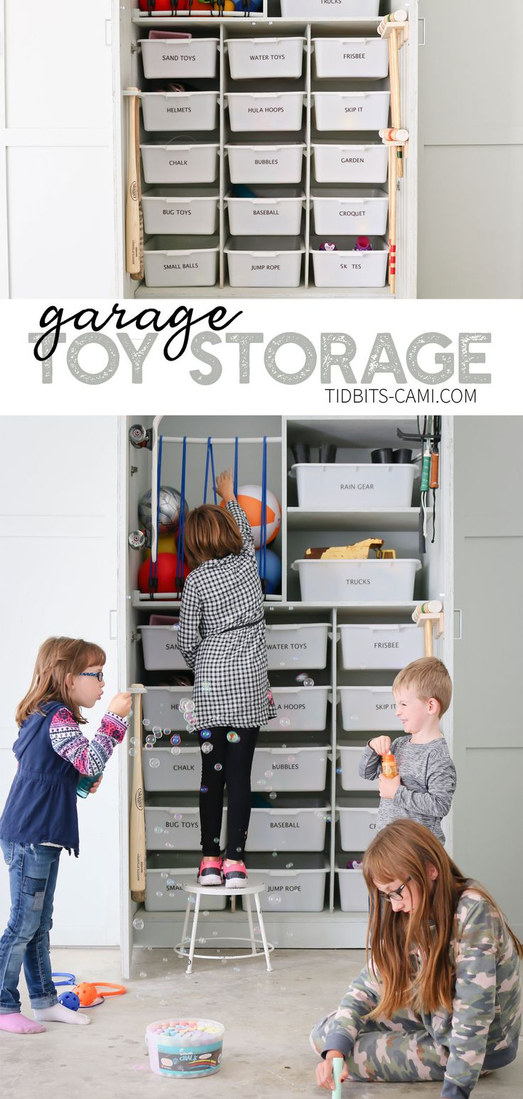 Garage toy storage and organization ideas – contain all those outdoor toys with these brilliant ideas!
