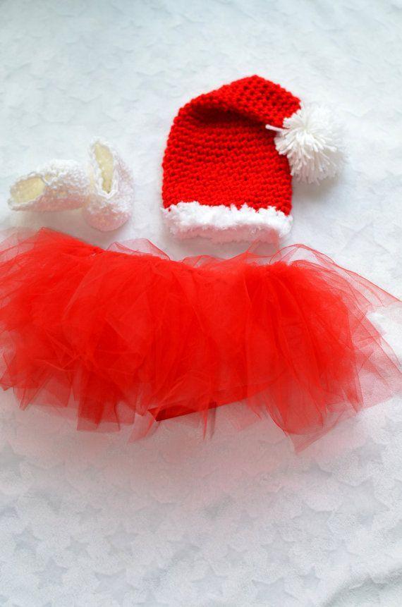 Baby Girl Christmas Outfit. Christmas Tutus Baby Girls @Angela Pashby