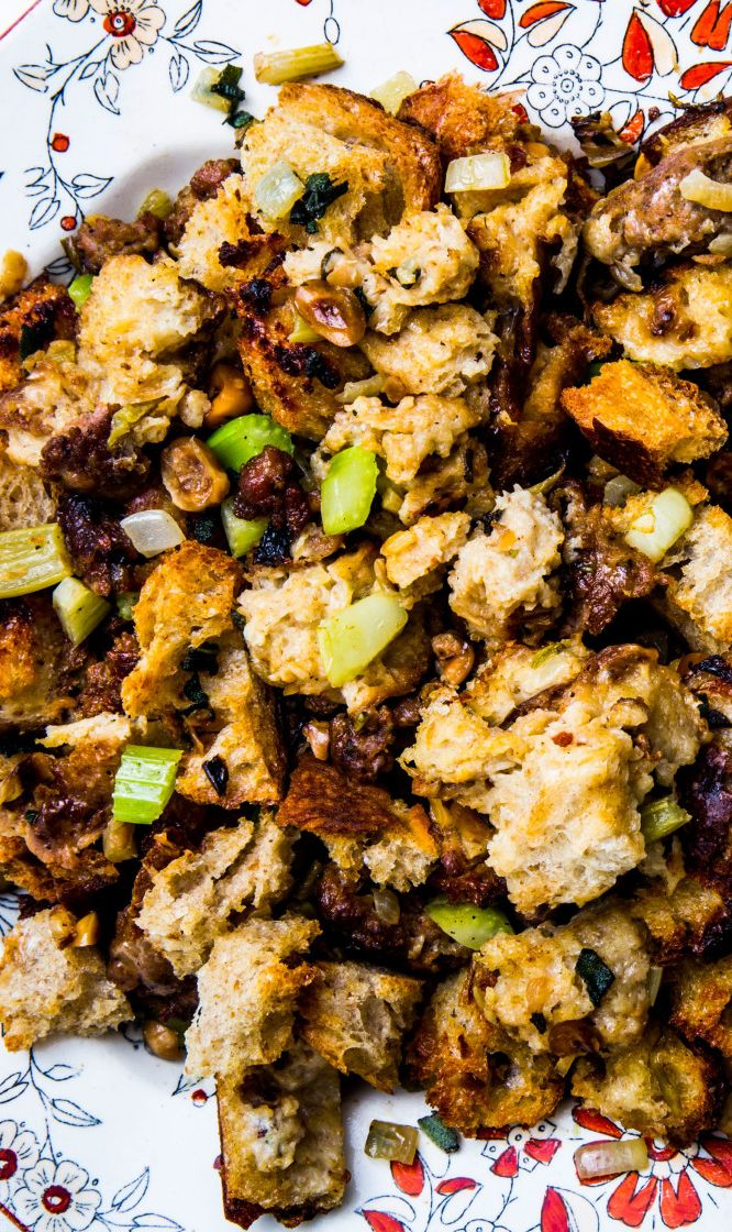 The New Classic Stuffing recipe: Just traditional enough for your family's Thanksgiving table.