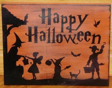 Primitive Happy Halloween Sign | Vintage | Pinterest