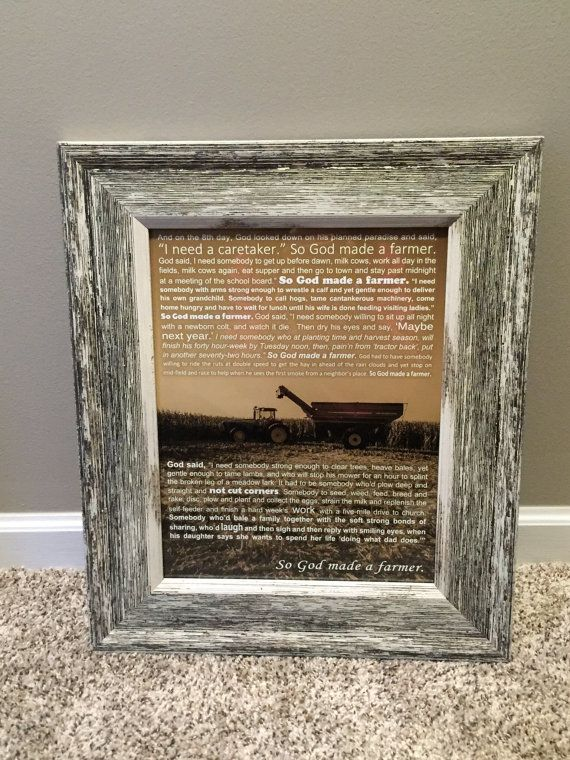 Print Only Shorter Version Of So God Made A Farmer Poem Laid Over