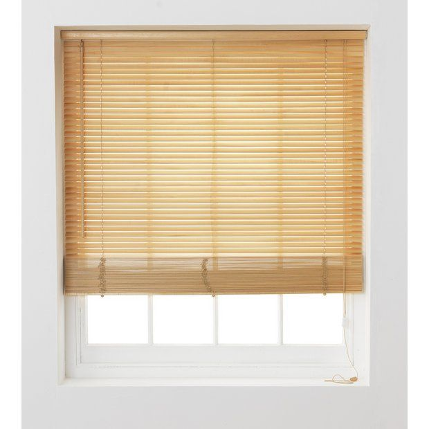 Buy HOME Wooden Venetian Blind - 3ft - Natural at Argos.co.uk - Your Online Shop for Blinds, Blinds, curtains and accessories, Home furnishings, Home and garden.