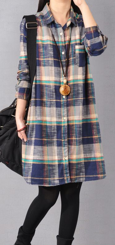 stylish blue pure cotton shirt dress oversize casual dress