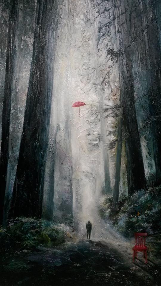 The Journey by Tasmanian artist John Karafyllis. Oil on canvas.