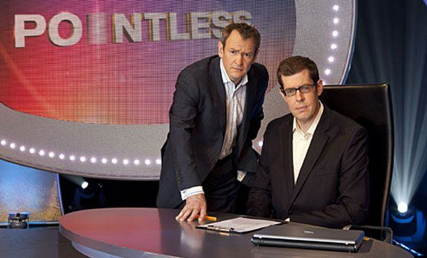 Pointless - TV quiz - love the banter between Alexander Armstrong & Richard Osman