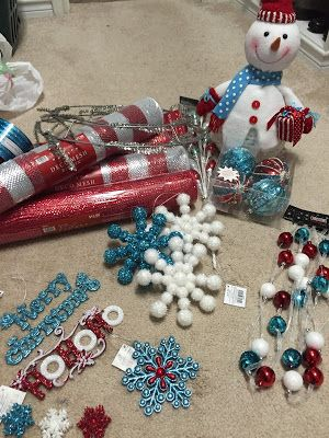 DIY Curly Deco Mesh Snowman Wreath 2015 AKA The Hobby Lobby Tweet Wreath