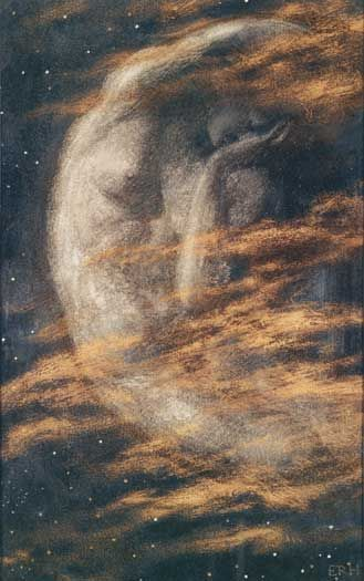 0rchid_thief: Moon in Art: Arthur Hughes, The Weary Moon
