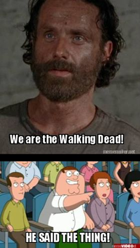 Omg I legit thought of peter from family guy saying this when rick said this quote! Lol!!!