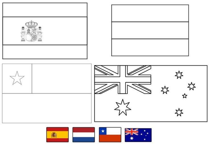 Banderas Mundial Futbol 2014 Colorear Imprimir