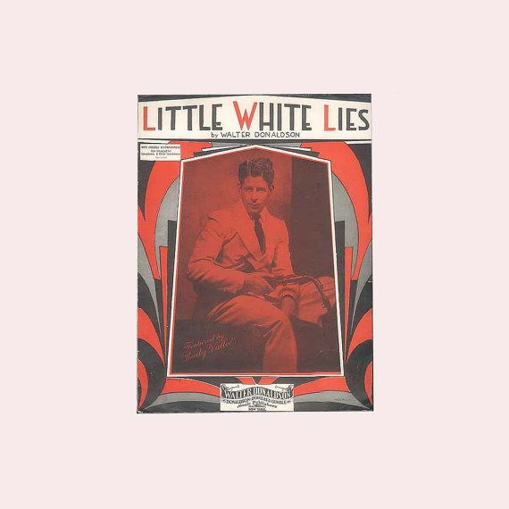Rudy Vallee Little White Lies Jazz Age by ProfessorBooknoodle