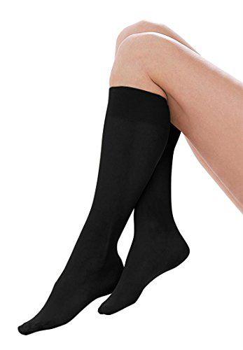 Comfort Choice Women's Plus Size Sheer Nylon Knee High Stockings (6 Pack) $16.58