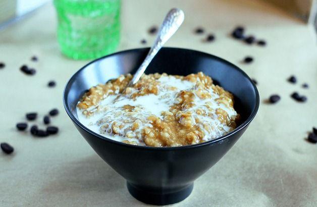 coffee oatmeal: Tops Recipe, Coff Oatmeal, Yummy Recipe, Breakfast Coffee, Coffee Recipe, Frapuccino Oatmeal, Coff Frappuccino, Recipe Cooking Coffee 02, Frappuccino Oatmeal