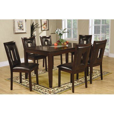 Garrett 7 piece dining set in espresso by wildon home for Dining room table 60 x 36