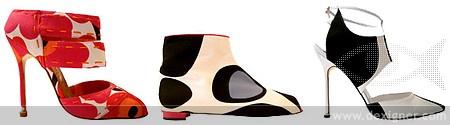 Marimekko and Manolo Blahnik shoes
