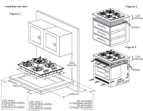 Resultado de imagem para detalhamento de armario de cooktop