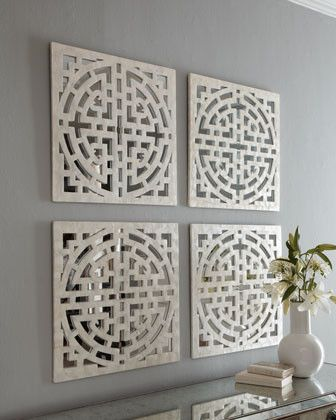 Geometric Capiz Mirror traditional mirrors