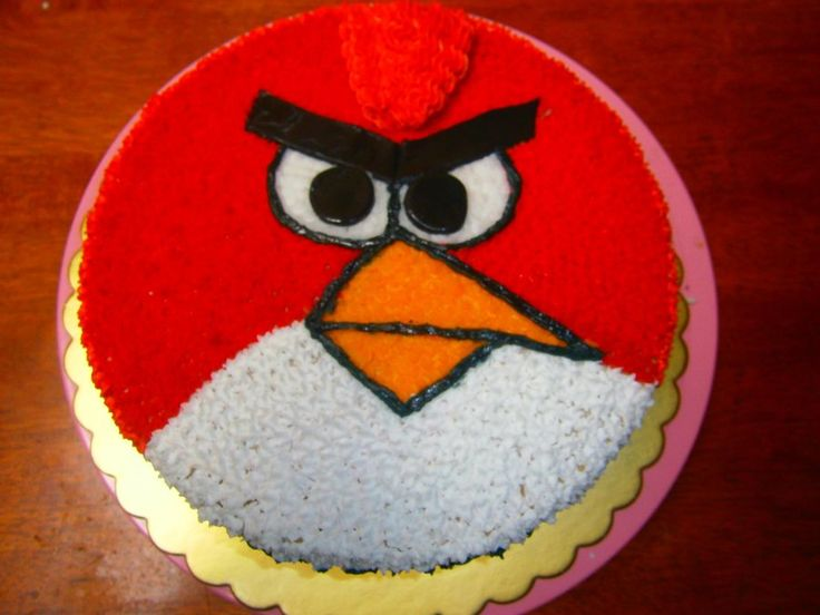 17 best ideas about angry birds cupcakes on pinterest for Angry birds cake decoration