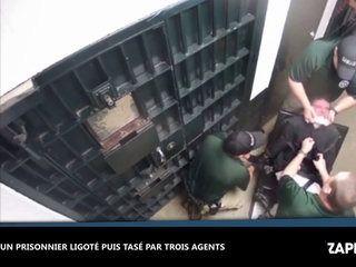 Etats-Unis : Un prisonnier ligoté se fait taser plusieurs fois par trois agents, les images chocs (vidéo)