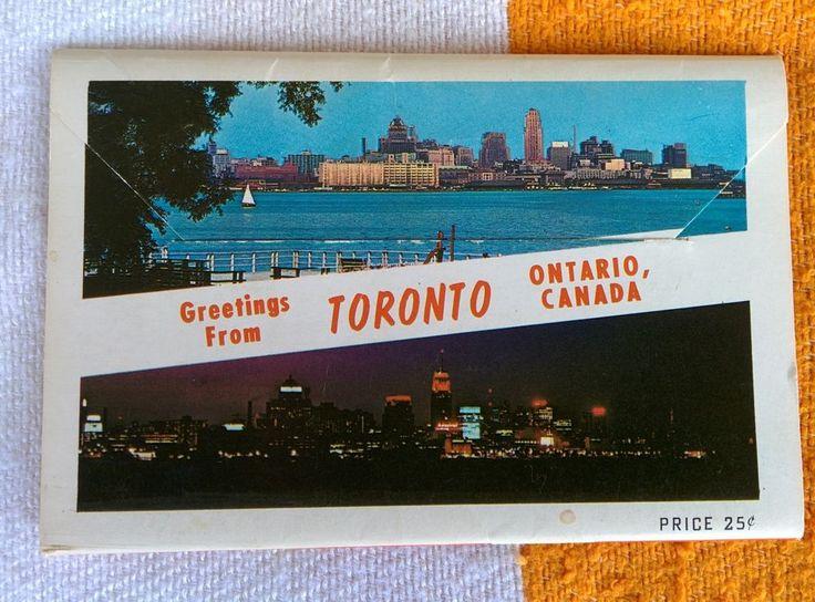 1950s Toronto Ontario Canada Souvenir Plastichrome Colour Photo Set