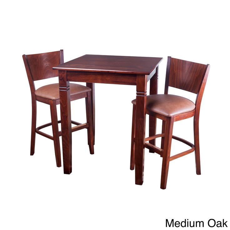 Hendrix Pub Set (3 PC) (Hendrix Pub Set (3 PC) Medium Oak Finish), Brown