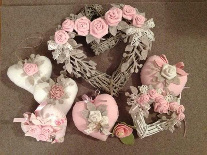 Rosa, rose e cuori