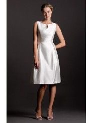 Shantung Scooped Back Neckline Empire Wedding Dress
