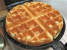 Continental breakfast: Belgian waffles  King Arthur Flour  (I used the 30-min. rest version)-Easy and Fantastic!