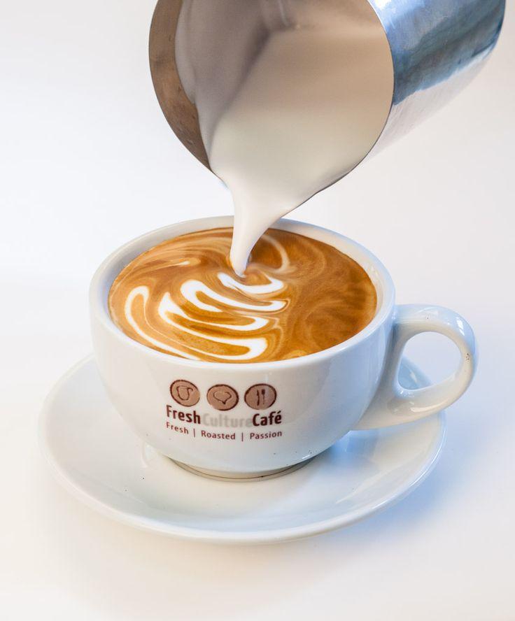 Fresh Culture Cafe Cappuccino Latte Art