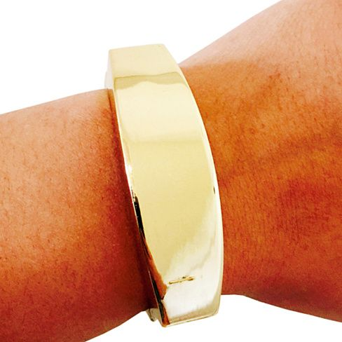 """Fitbit Bracelet for FitBit Flex - The TORY 8.5"""" Inch Shiny Gold Fitbit Bracelet - Simple and Versatile - FREE Shipping!"""