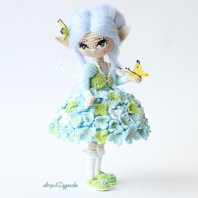 Сейчас сосчитала  около 80 цветочков на платьице ) Жи...☆ lovely doll