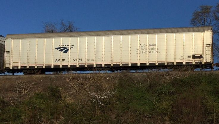 From Virginia to Florida your car is safe with Amtrak's Auto Train and leave 95 behind. Southbound at Woodbridge, Va. photo by Kathy Fite Simon 3/29/17