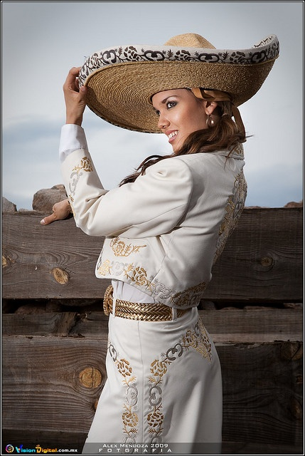 "charra mexicana ""Cowgirl""Traditional costume of a Tapatia"