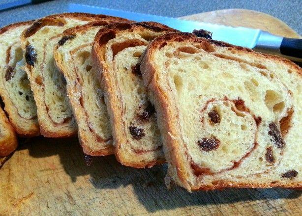 World's Best Cinnamon Raisin Bread (Not Bread Machine)