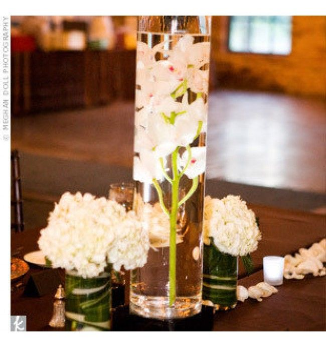 orchid centerpiece | white orchid wedding centerpieces