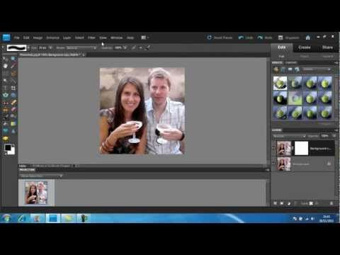 How to create a Gaussian Blur with photoshop elements 9