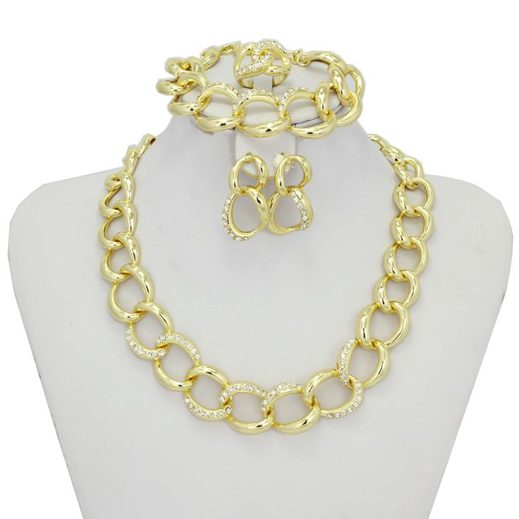 Find More Jewelry Sets Information about Summer  Wholesale 2016 New Jewelry Set Necklace Earrings Dubai Gold African Jewelry Sets Fashion 18K Yellow Gold Plated,High Quality jewelry earring display,China jewelry earring holder Suppliers, Cheap earrings brand from AE Jewelry&sport jerseys on Aliexpress.com