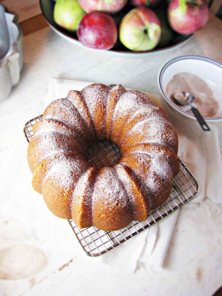 Apple cider donut cake! -- This one is a winner. Remarkably light and soft ... exactly like a cider donut.